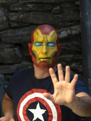 maquillage face painting iron man